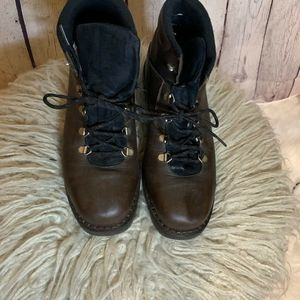 Sorel Brown Leather Hiking Boots  Vintage 9.5 M